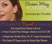 Custom banner for Susan May Warren PJ Sweet Contest