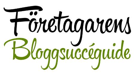 Välkommen till Företagarens Bloggsuccéguide, bloggkursen för dig som är företagare.