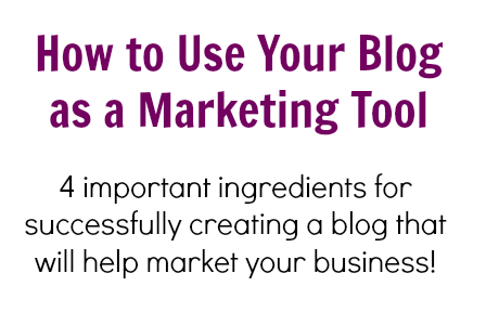 How to use your blog as a marketing tool